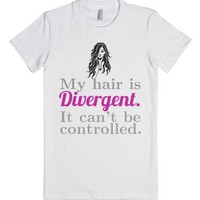 My Hair is Divergent-Female White T-Shirt