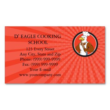 Business card Bald Eagle Baker Chef Rolling Pin Ci