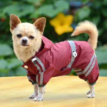 New Puppy Dog raincoat waterproof jacket reflective safety dog clothes