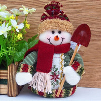 Christmas Ornament toys Best Gift Xmas Tree House Decoration Santa Claus Snowman Reindeer doll for children doll SV010694|26601 = 1745579524