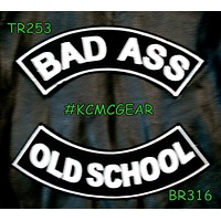 Military Biker Patch Set Bad Ass Old School Embroidered Patches Sew on Patches for Jacket