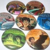 Harry Potter Book Cover Magnets by getyourbuttons2 on Etsy