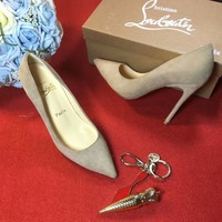 Best Online Sale Christian Louboutin CL 100mm Patent Leather High Heels W08