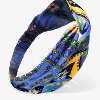 Abstract Scarf Print Headwrap