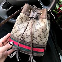 GUCCI new women's shoulder bag bucket bag diagonal female bag
