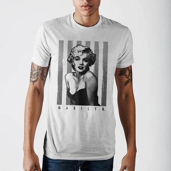 Marilyn Over Stripes Odp T-Shirt