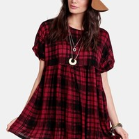 Last Play Plaid Dress
