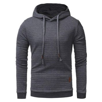 Mens Quilt Pullover Hoodie