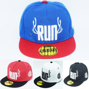 Run Children Hip Hop Baseball Cap  snapback Caps age for 2-9 years old