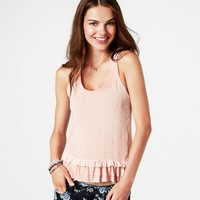 AE Embroidered Dot Tank | American Eagle Outfitters