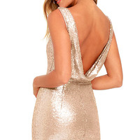 Shine Time Rose Gold Sequin Dress