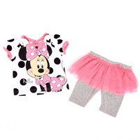Polka Dot Minnie Capri Set 3 9m 345951839 | Matching Sets | Baby Girl Clothes | Clothing | Burlington Coat Factory