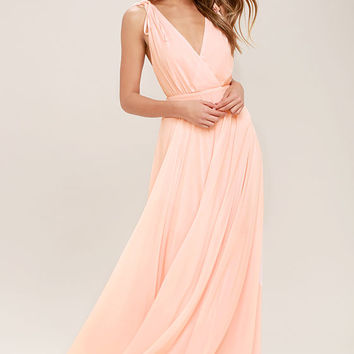 Dance the Night Away Blush Pink Backless Maxi Dress
