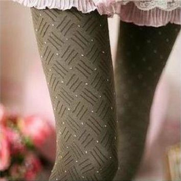 ca ICIKTM4 Winter Korean Stylish Stripes Slim Socks Leggings [47781478407]