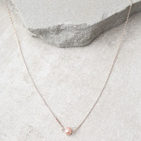 Favorite Memories Rose Gold Pearl Necklace