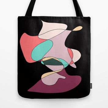 Abstract 1 (Black) Tote Bag by DuckyB (Brandi)
