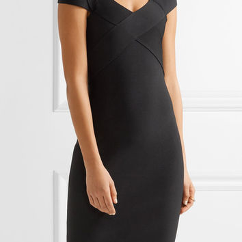 Roland Mouret - Morland cutout double-faced stretch-knit dress