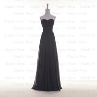 Custom A-line Sweetheart Floor-length Sleeveless Chiffon Pleated Fashion Prom Dress Bridesmaid Dress Formal Evening Dress Party Dress 2013