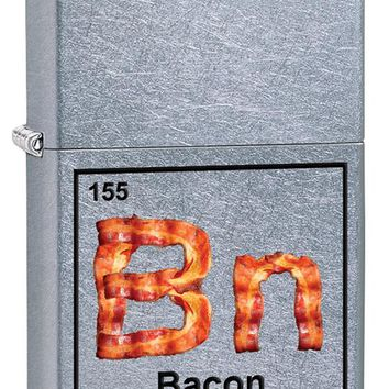 Fried Bacon Periodic Table Element Color Imaged on Street Chrome Lighter