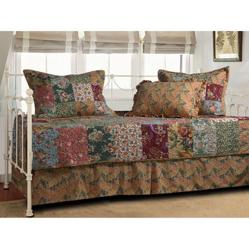 Floral 5 Piece Daybed Ensemble Bedding Set
