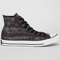 Converse Chuck Taylor Hi Flag Mens Shoes Charcoal Gray  In Sizes