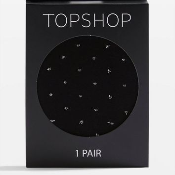 Glitter Spot 60 Denier Tights | Topshop