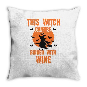 wine witch! Throw Pillow