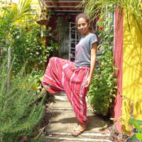 Authentic Super Cool and Comfortable Hand Made Harem/Parachute/Aladdin Pants from Chiapas
