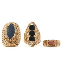 Faux Stone Ring Set | Forever 21 - 1000222411
