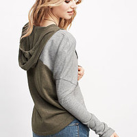 Colorblock Fleece Hoodie - Victoria's Secret
