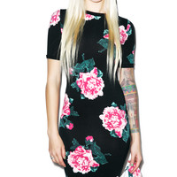 Joyrich 8Bit Floral Bodycon Dress