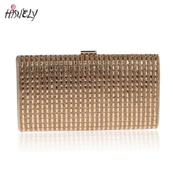 2017 Fashion Women Handbags Metal Patchwork Shinning bling Shoulder Bags Ladies Print Day Clutch Party Evening Bags WY126