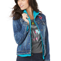 Aztec Studded Denim Jacket