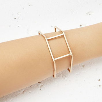 Caged Hexagon Bangle