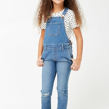 Girls Denim Overalls (Kids)