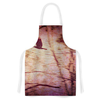 "Robin Dickinson ""Midnight Dreary"" Pink Tree Artistic Apron"