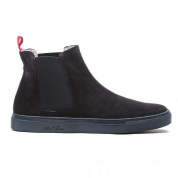 Men's Navy Suede Chelsea Boot - Sneaker - Men's