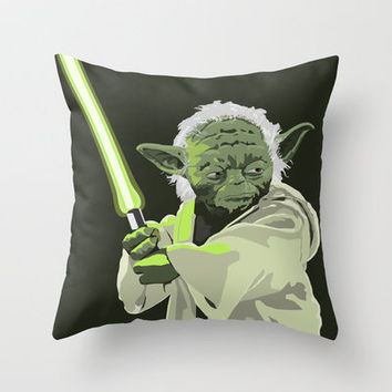 Yoda of Star Wars Throw Pillow by Aimee Reich | Society6
