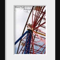 Carnival Rides Ferris Wheel Print Photo Decor Wall Photography Children's Playroom Art