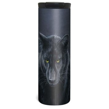 Big Cat Panther Barista Tumbler Travel Mug - 17 Ounce, Spill Resistant, Stainless Steel & Vacuum Insulated