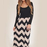 Black Scoop Chevron Maxi