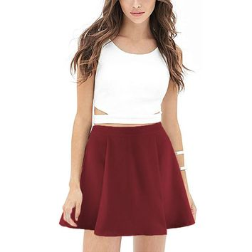 Women's Fashion Summer Plus Size High Waist Hot Sale Skirt = 5893436097