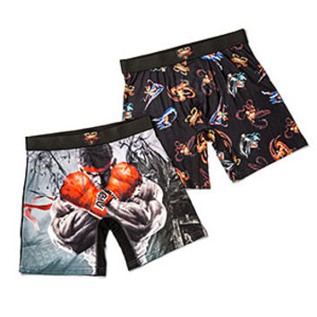 Street Fighter V K.O. 2-Pack Boxer Briefs