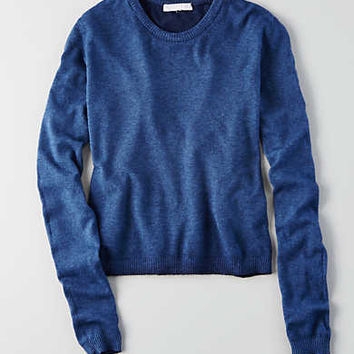 Don't Asky Why Crewneck Sweater, Blue