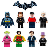 Batcave Minifigures Lot Batman Robin Bruce Wayne Dick Grayson Alfred Pennyworth Joker Cat woman Penguin Legoes 76052 Compatible