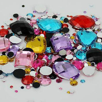 1000pcs DIY 3D Bling mix rhinestone crystal