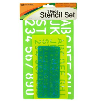 Numbers and Letters Stencil Set Case Pack 12