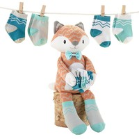 Baby Aspen 5-pc. Mr. Fox Plush Gift Set - Baby Neutral, Size: One Size (Orange)