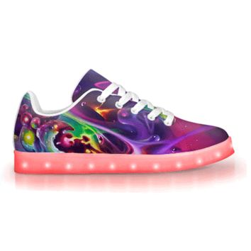 Soul Spill by Brian Scott - APP Controlled Low Top LED Shoes