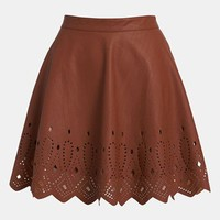 ASTR Cutout Faux Leather Skirt | Nordstrom